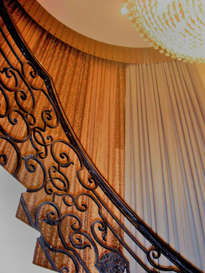 Residential-Staircase Curtains
